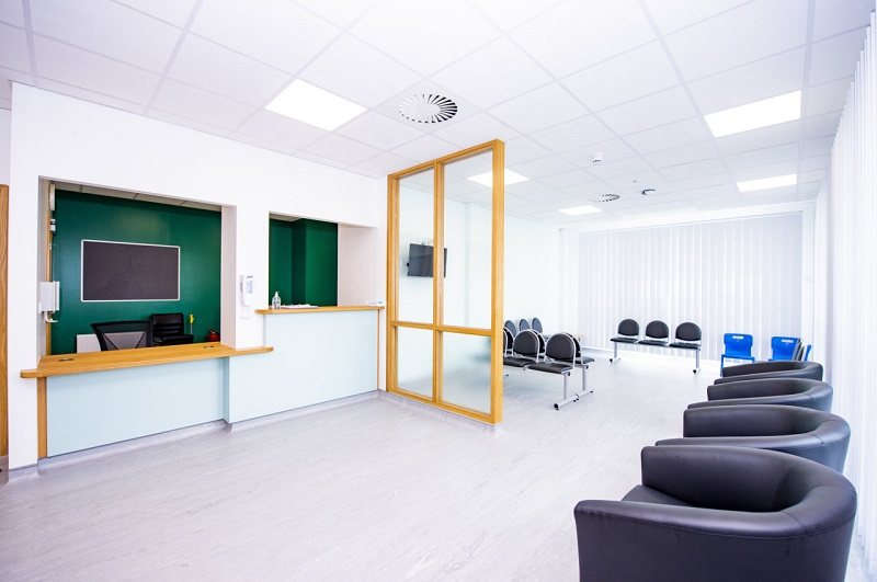 The new reception and waiting area