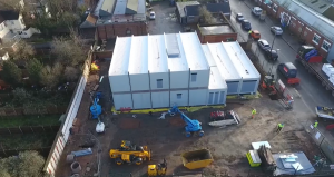 The modular building was delivered in just 25 weeks
